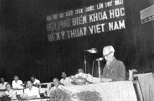 Chủ tịch Hồ Chí Minh phát biểu tại Đại hội Đại biểu toàn quốc lần thứ nhất Hội Phổ biến khoa học và kỹ thuật Việt Nam